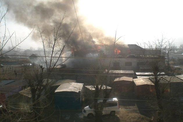 Здание бывшего вытрезвителя в ноябре 2011 года полностью выгорело