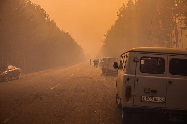 Пожар в селе Смоленка