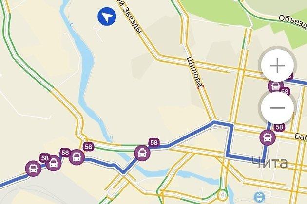 Отображение автобусов в мобильном приложении «2ГИС»