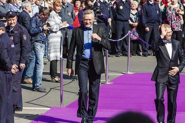 Александр Михайлов и Виктор Шкулёв на фестивале в Чите
