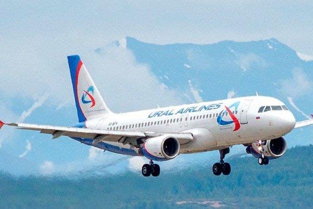 Самолёт «Уральских авиалиний»