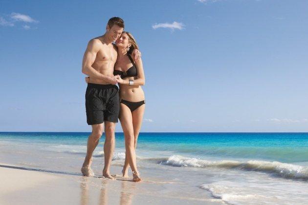 Секс на пляже с красоты
