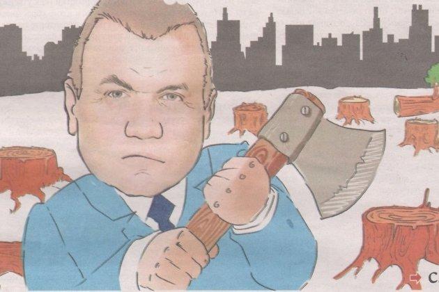 Карикатура на Сергея Давыдова