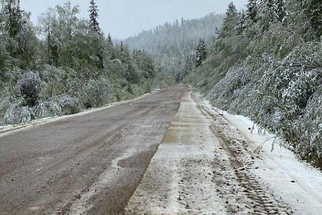 Снег в Красночикойском районе 7 июня
