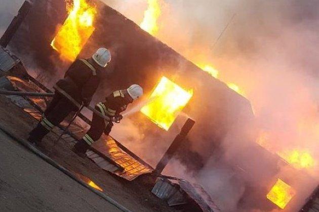 Пожар в посёлке Смоленка в Чите