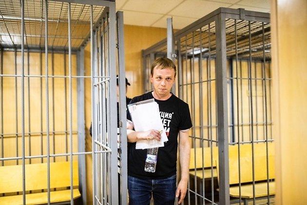 Иван Голунов в зале суда