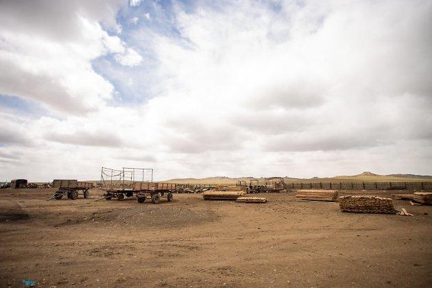 Полностью сгоревшее поселение Тасырхой