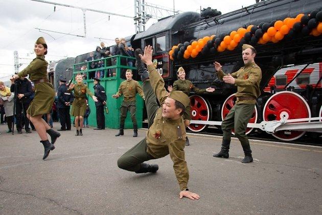 Ретро-поезд Победы