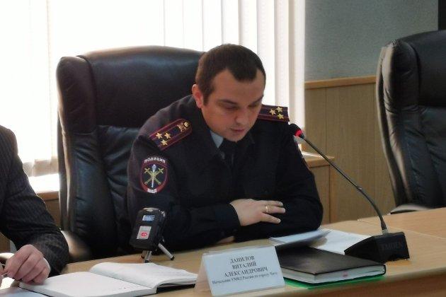 Начальник УМВД по Чите Виталий Данилов