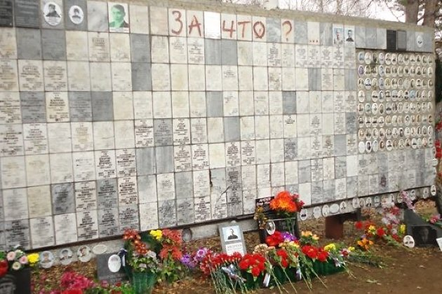 Камни изРыбинска— вСтене скорби