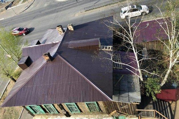 Отремонтированная крыша дома