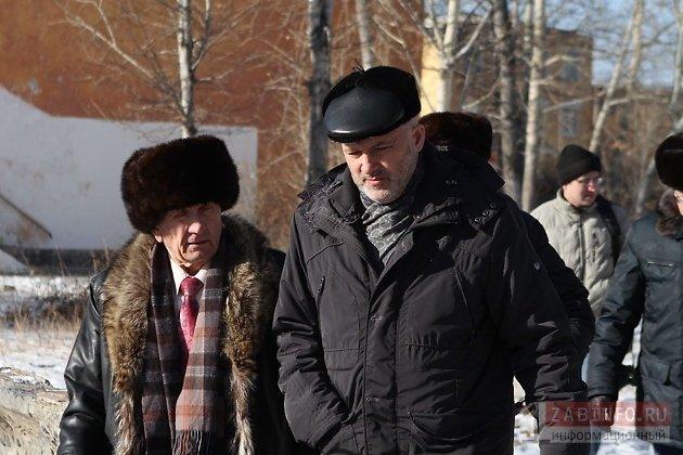 Губернатор Забайкалья Константин Ильковский и глава Горного Виктор Карнаух