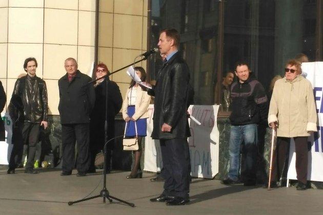 Евгений Корнев на митинге против чиновников Читы
