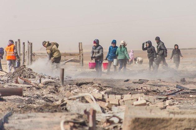 Пострадавшие от перехода степного пожара в Борзинском районе