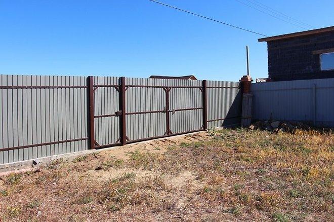 Металлопрофиль как сделать забор
