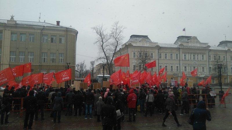 Около 100 человек собралось на митинге в Иркутске против политики федеральных властей