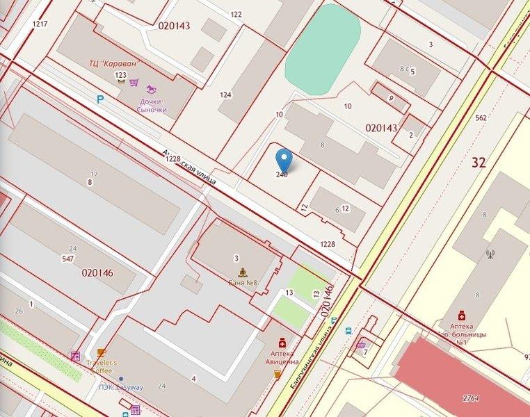 Скриншот публичной кадастровой карты
