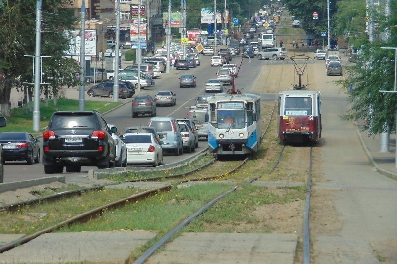 Иркутск занял 32-е место среди 33 крупных городов РФ по обособленности трамвайных путей