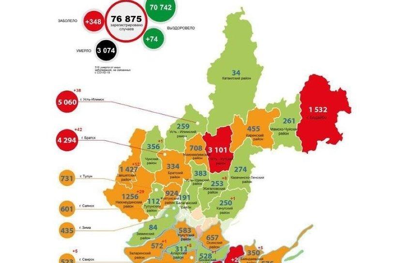 Больше 100 случаев коронавируса регистрируют в Иркутске 6-й день подряд